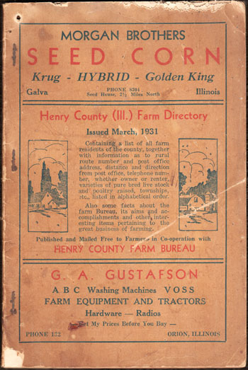 Henry County, Illinois Farm Directory, 1931,  book