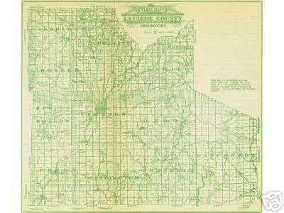 Early map of Laclede County, Missouri including Lebanon, Conway, Phillipsburg, Morgan, Sleeper, Competition, Drynob