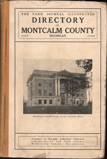 Montcalm County, Michigan 1917-1922 Rural Directory, Stanton, MI