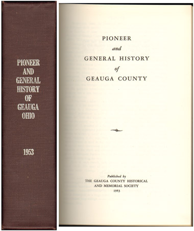 Pioneer and General History of Geauga County, Ohio, 1953