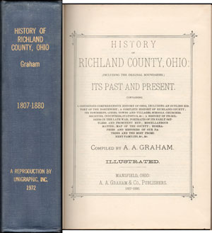 History of Richland County, Ohio, 1880, A. A. Graham, Mansfield, OH, book