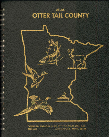 Ottertail County, Minnesota Atlas 1982 Maps 1000's of farms, families, Fergus Falls, MN